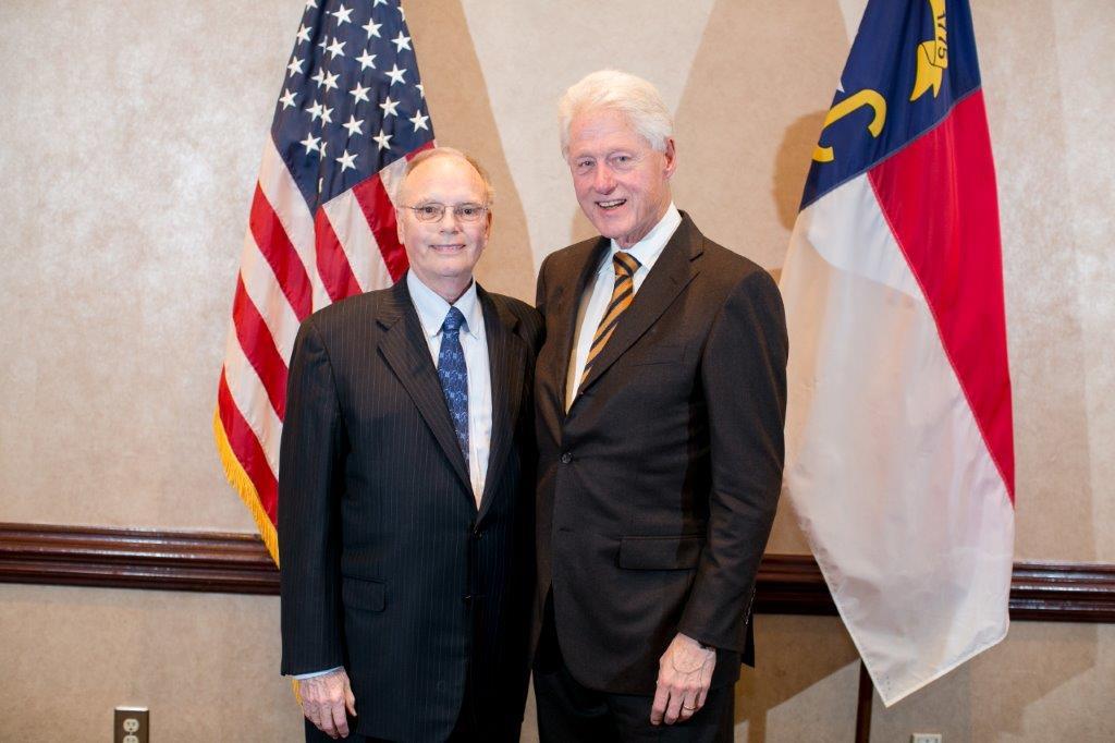 Bill Clinton and Mark Erwin, US Ambassador