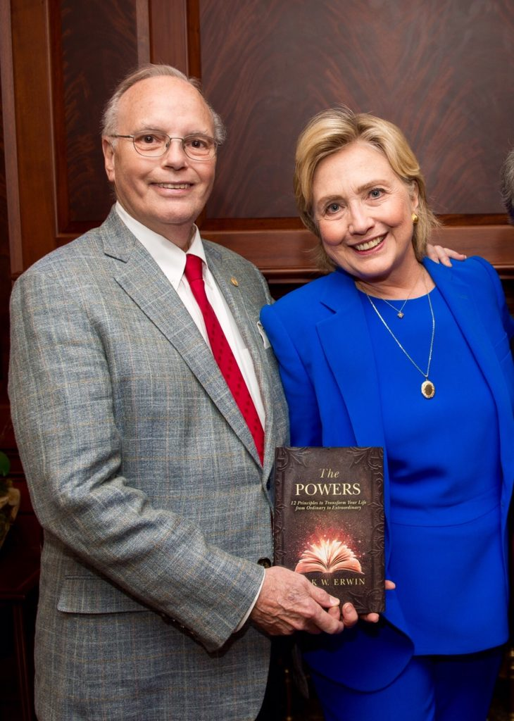 Hillary Clinton gets book - The Powers by Mark Erwin